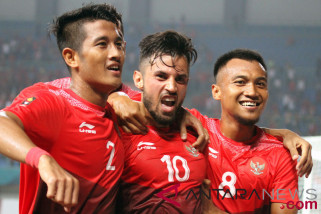 Pemain timnas U-23 Indonesia optimistis taklukkan Palestina