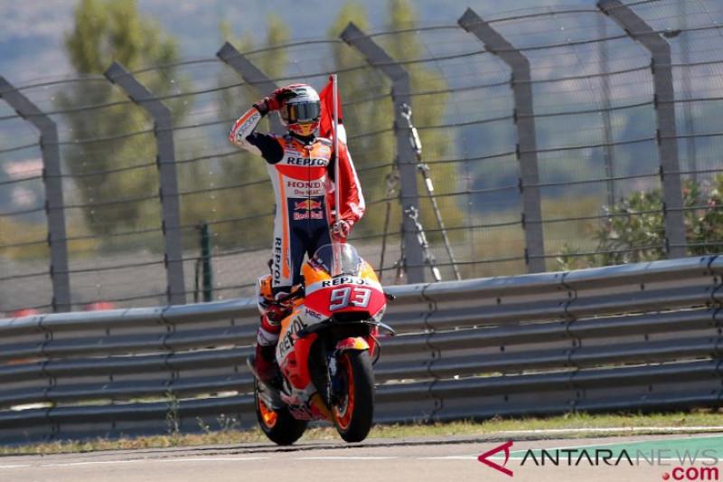 Marc Marquez Juara di Aragon