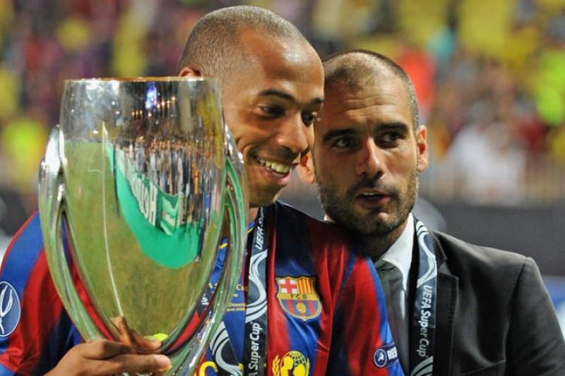 Thiery Henry terinpirasi Guardiola dan Wenger dalam melatih