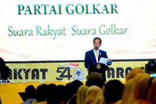 Presiden Jokowi hadiri peringatan HUT ke-54 Golkar