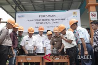 Pertama di Indonesia, 100 persen warga di Pulau Bukulimau pakai kompor listrik