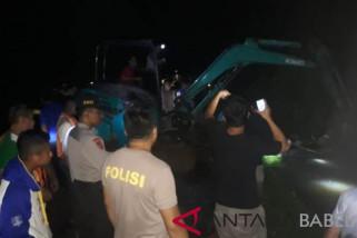 Banjir melanda Desa Delas Bangka Selatan, 1 unit mobil terseret arus