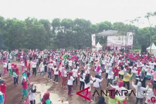 Presiden Jokowi senam tera bersama 20.000 peserta