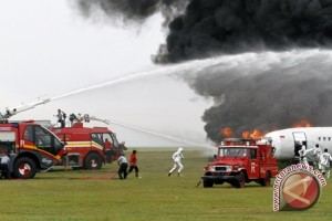 Bandara Bali simulasi penanganan kecelakaan pesawat