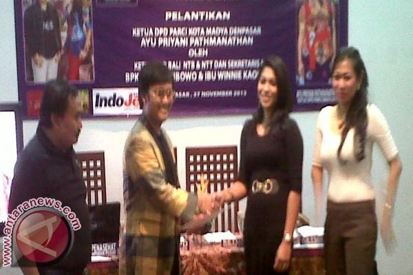 Ayu Priyani Pimpin PARCI Kota Denpasar