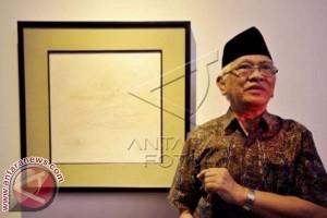 Lukisan Gus Mus Dipamerkan di Semarang