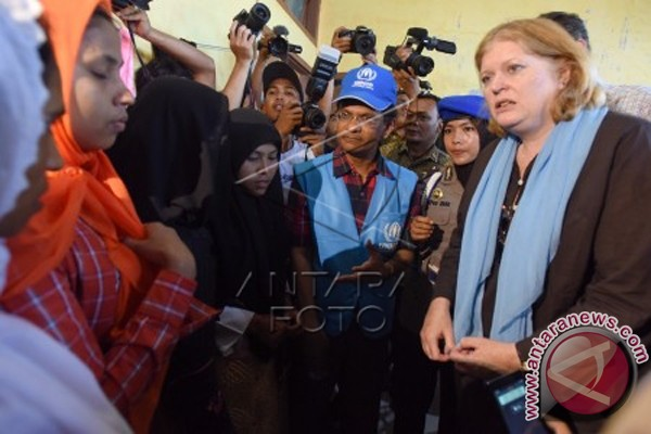 Kemenlu AS Kunjungi Kamp Rohingya di Kuala Cangkoi