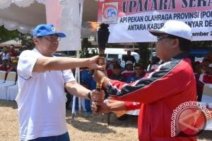 Pawai Obor Porprov Bali Tiba Di Denpasar