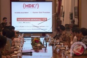 Presiden Terima Panitia-Pemenang Hackathon Merdeka 2015