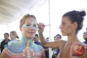 "Seni ""Body Painting""  Sedot Pengunjung NDF"