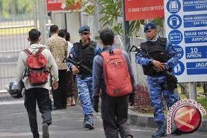 Aparat Gabungan Perketat Pengamanan Bandara Ngurah Rai