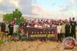 200 Orang FPMB Tanam Pohon Mangrove