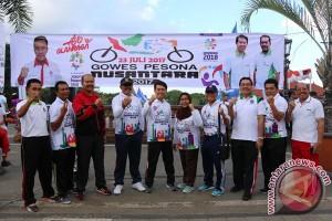"Seribu Peserta ""Gowes Pesona Nusantara 2017"" Lintasi Klungkung"