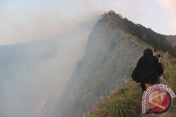 Kebakaran Tebing di Nusa Penida, Wisatawan Berhasil Dievakuasi