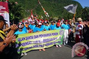 Ribuan Masyarakat Klungkung Ikuti Jalan Santai HUT RI