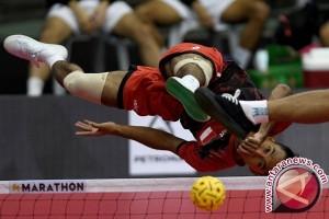 Tim Sepak Takraw Indonesia Kalahkan Malaysia