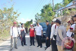 Wabup Klungkung Meninjau Pembangunan Insfrastruktur Nusa Penida