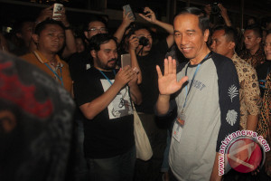 Presiden Jokowi Saksikan Festival Musik di Kemayoran