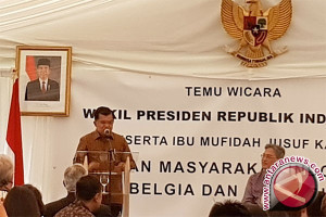 Wapres Jusuf Kalla Menemui Warga Indonesia di Belgia
