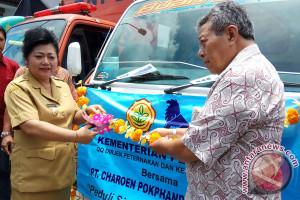 CPI Membantu Pakan Ternak Pengungsi Gunung Agung