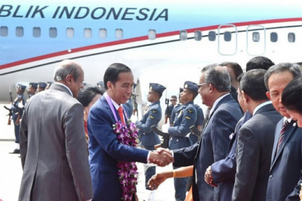 Presiden Jokowi tinggalkan Sri Lanka menuju India
