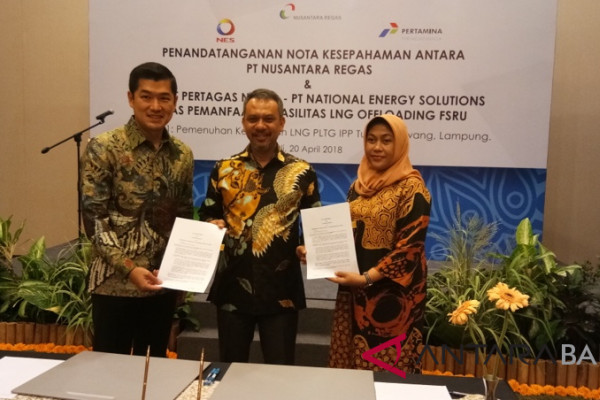 "PT Nusantara Regas bangun ""offloading"" LNG"