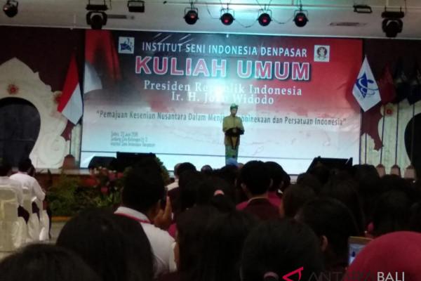 Presiden Jokowi harapkan ISI terus lahirkan karya kreatif