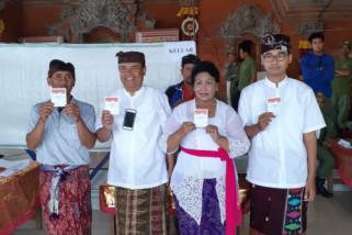 Bupati Bangli pilih di TPS 1 Bunutin