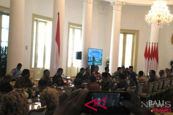 Presiden bertemu para wali kota di Istana Bogor