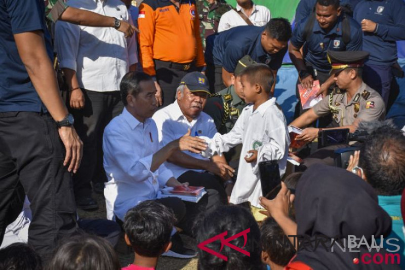 Bantuan pemerintah untuk korban gempa Lombok