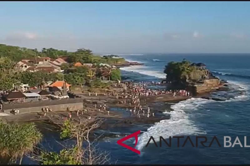 Pasca-Gempa Lombok, pengelola Tanah Lot larang wisatawan dekati pantai (video)