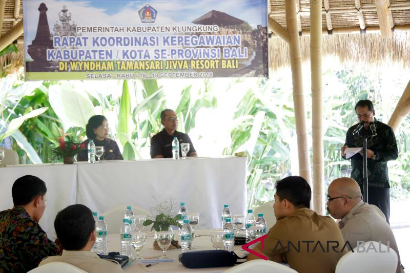 Rapat koordinasi bidang kepegawaian untuk samakan pemahaman