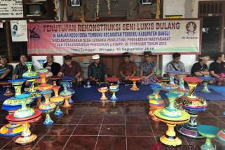 ISI Denpasar akhiri rekonstruksi seni lukis dulang Kedui