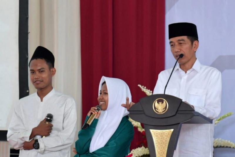 Presiden ingatkan santri kerukunan aset terbesar Indonesia