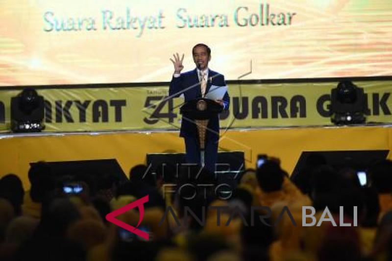 Presiden hadiri peringatan HUT ke-54 Golkar