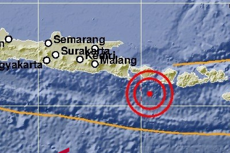 5.3-magnitude jolts south Bali