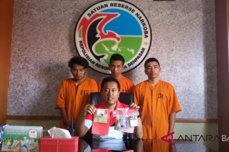 Polresta Denpasar tahan tiga penyalahguna narkoba
