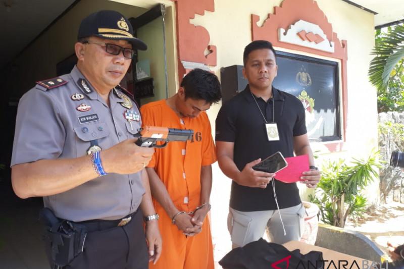 Polsek Denpasar Selatan tahan pencuri gunakan pistol mainan