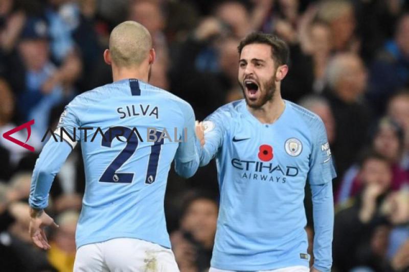 Liga Inggris - City amankan puncak setelah menangi Derby Manchester