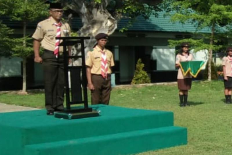 Kodim Buleleng bersama Saka Wira Kartika laksanakan Persami