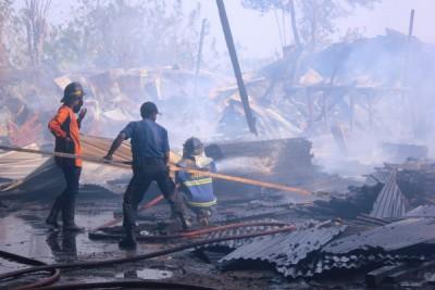 Kebakaran di Palima Kota Serang