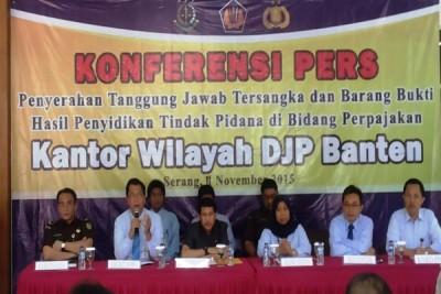 DJP Kanwil Banten Serahkan Pelaku Penggelapan Pajak