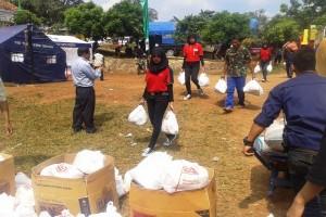 Alfamart-Puwten Bantu Korban Bencana di Cikendang