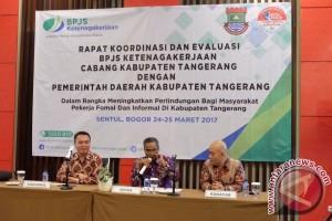 Pemkab Tangerang - BPJS-TK Kerjasama Perlindungan Jaminan Sosial Pekerja