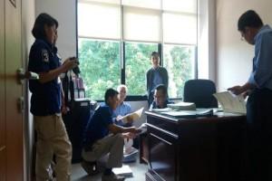 Penyidik Polda Banten Geledah Kantor Bapelkes Krakatau Steel