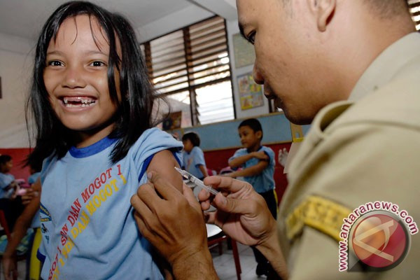 Capaian Imunisasi MR di Cilegon Lebihi Target