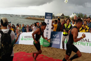 Atlet Indonesia Dominasi Bali International Triathlon 2017