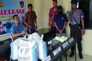 Polair Polda Banten Tangkap Penjual  Bahan Peledak