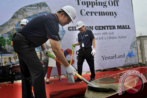 Prosesi Topping Off Cilegon Center Mall