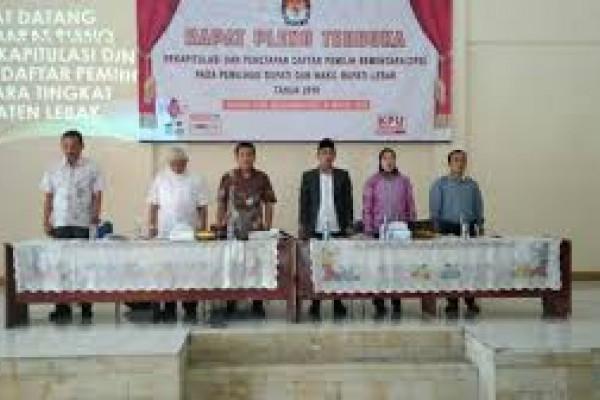 KPU Lebak Tetapkan 942.509 Daftar Pemilih Sementara
